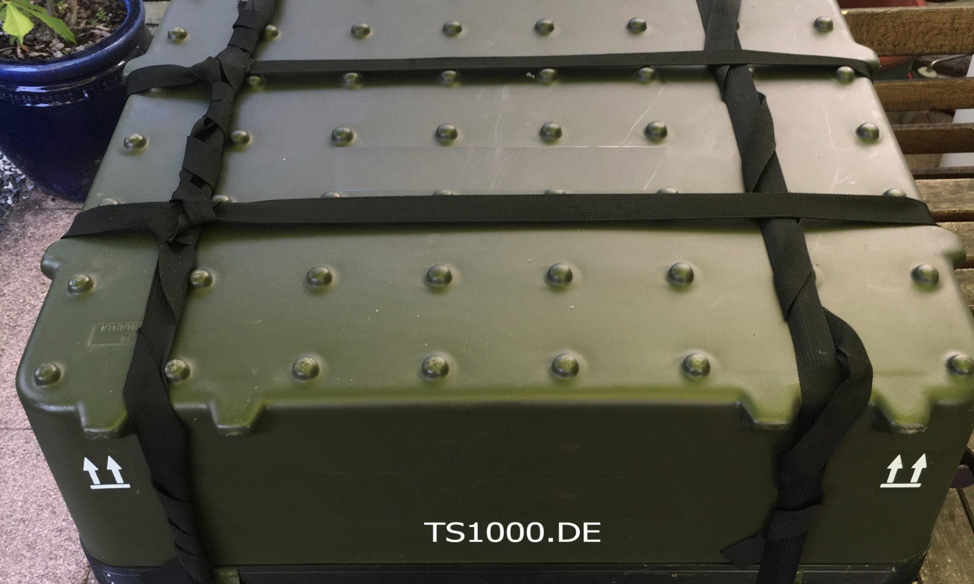 Versandkoffer für die TS1000